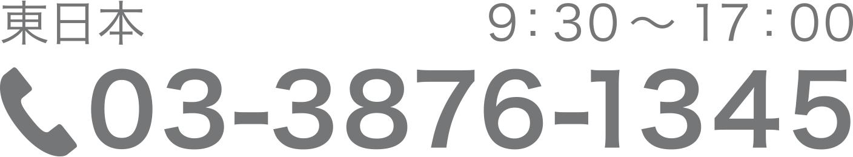 东日本03-3876-1345