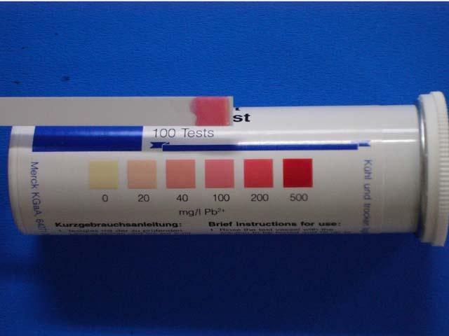 切割用黃銅材料(鉛含量約2-3%)60分鐘:100mg / l