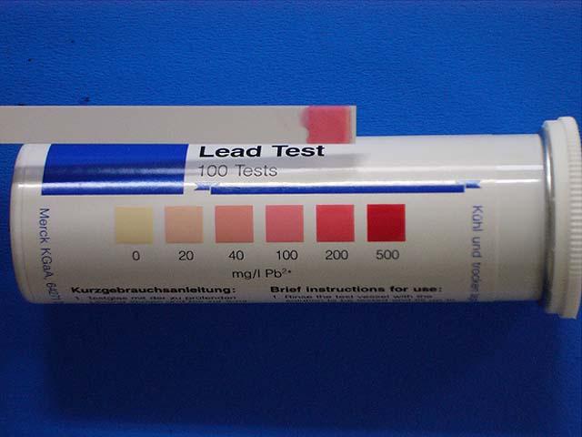 90分鐘後的Lometa橡膠鑄模(鉛含量約30%):40 mg / l