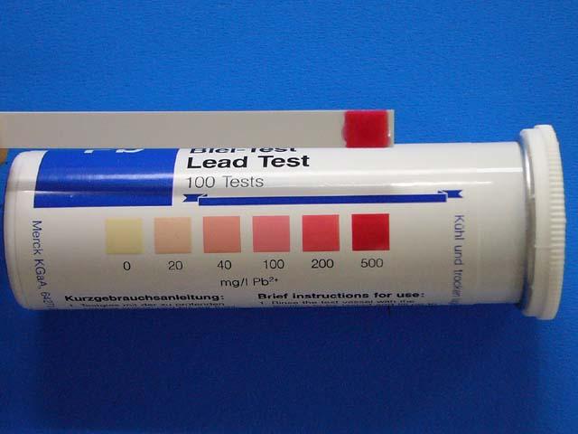 洛美達橡膠澆鑄(鉛含量約90%)60分鐘:100mg / l