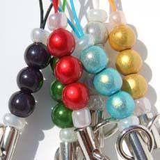 Glass beads Netsuke string